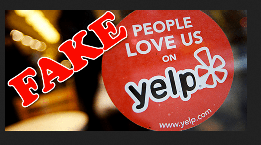 Fake People Love Us On Yelp Logo